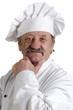 Chefkoch in seiner weißen Uniform