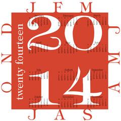 a red calendar for 2014