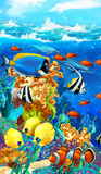 The coral reef - illustration for the children