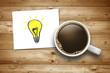 Kaffeetasse mit Idee