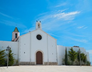 Beautiful church in Sitges, Spain