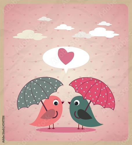 Love Birds.Vector