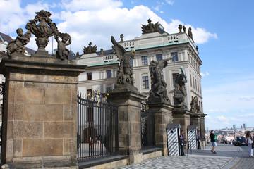 Royal castle entrance in Prague