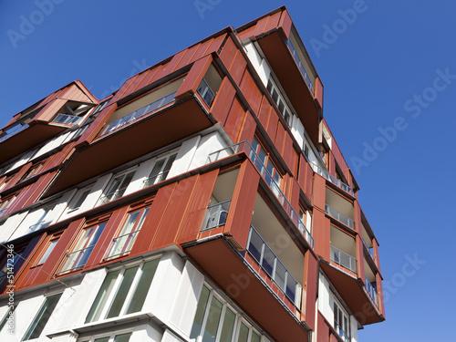 Modernes Wohnhaus in Hamburgs HafenCity