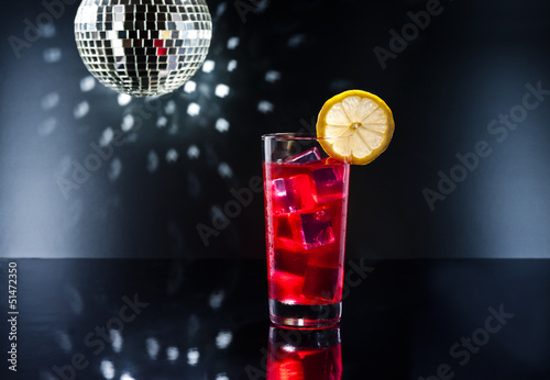 Campari cocktail in Disco setting