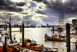 canvas print picture - Hafen Hamburg