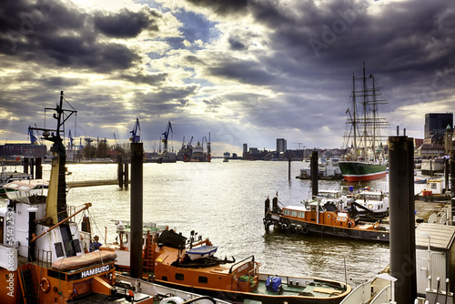 canvas print picture Hafen Hamburg
