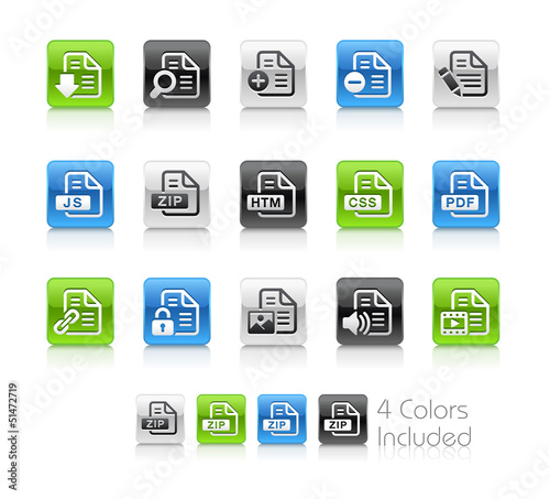 Documents 1 / The vector includes 4 colors in different layers