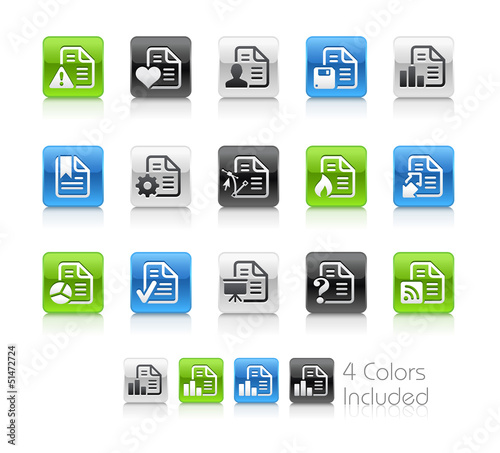 Documents 2 / The vector includes 4 colors in different layers