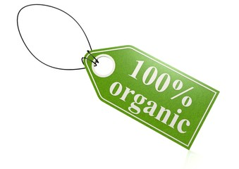 100 percent organic label