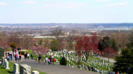 Arlington Cemetery tilt shift Washington DC