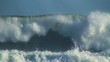 Ocean very big wave slow motion