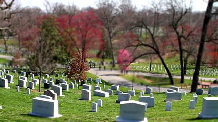 Arlington National Cemetery time lapse tilt shift