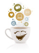 Coffee Cup With Social And Med...