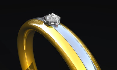 Ring mit Diamant