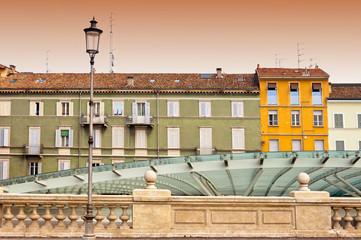 urban contrasts in Parma, Italy