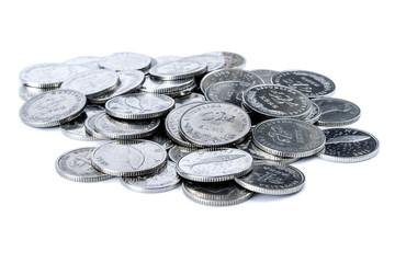 Pile of Croatian coins