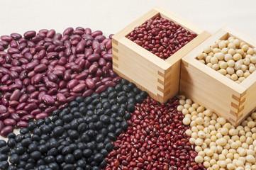 升と多種の豆