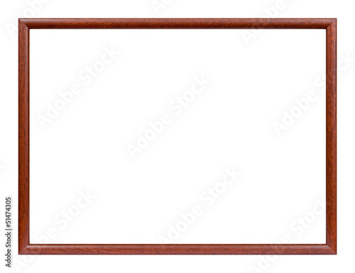 Wooden slim picture frame