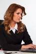 Image of attractive caucasian businesswoman