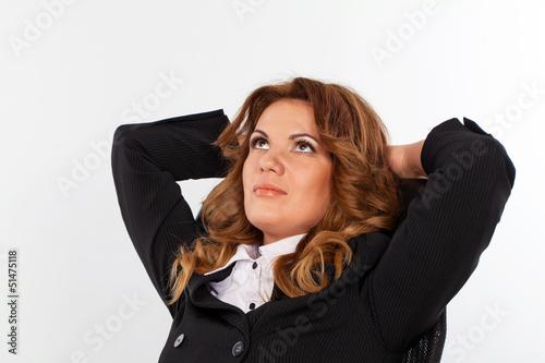 Image of attractive caucasian businesswoman