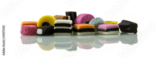 Liquorice allsorts, low reflected