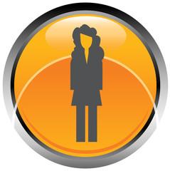 Logo icona donna ragazza