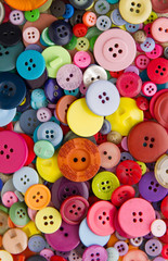 Bright mixed buttons