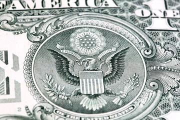 eagle in dollar bill