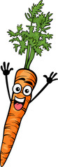 cute carrot vegetable cartoon illustration