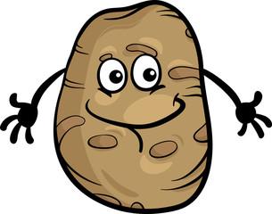 cute potato vegetable cartoon illustration
