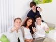 erfolgreiche gruppe teenager