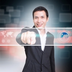 Businessman With Touchscreen