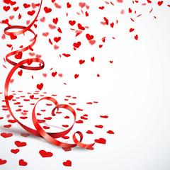 Herzkonfetti - Herz-Luftschlange