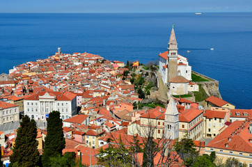 Historical city of Piran, Slovenia