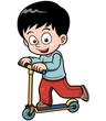Vector illustration of Little boy skateboarding
