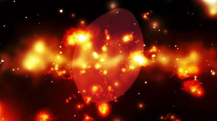 Football cosmic burn Looping Animated Background