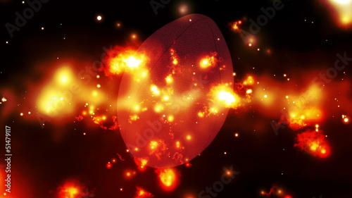 Football cosmic burn Looping Animated Background