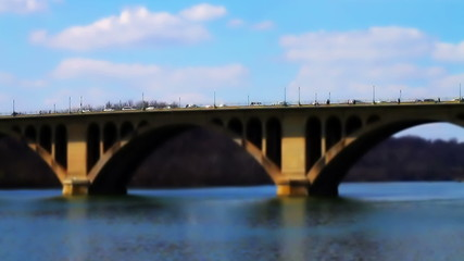 Francis Scott Key Memorial Bridge Tilt Shift Time Lapse