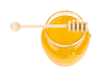 Honey bank on a white background