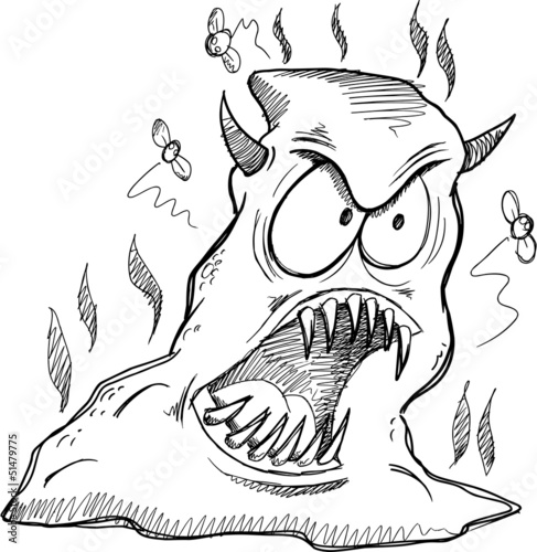 Monster Poop Sketch Drawing Vector Art
