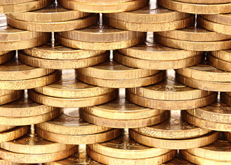 Background of copper coins