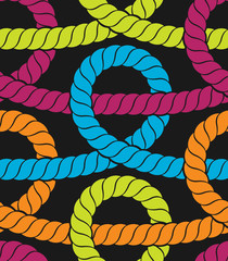 Colorful ropes seamless pattern. Vector illustration.