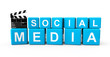 Social Media blocks with clapboard