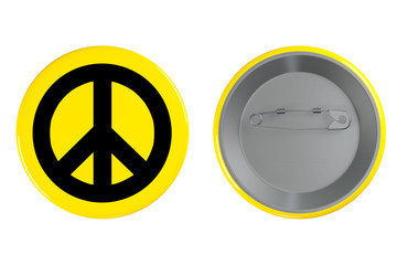 Badge with the Peace sign