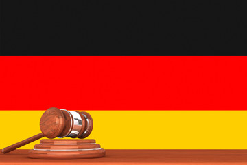 Gavel with Flag Of Germany