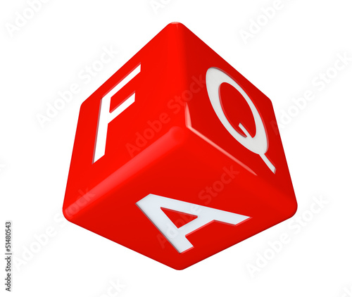 Dice faq icon cube