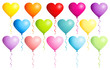 Set 14 Balloons Hearts Colors