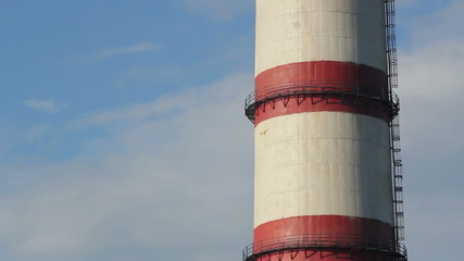 factory chimney long panorama