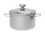 saucepan on a white background
